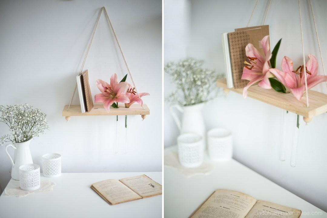 Fleurir une étagère réalisée à la main, DIY création
