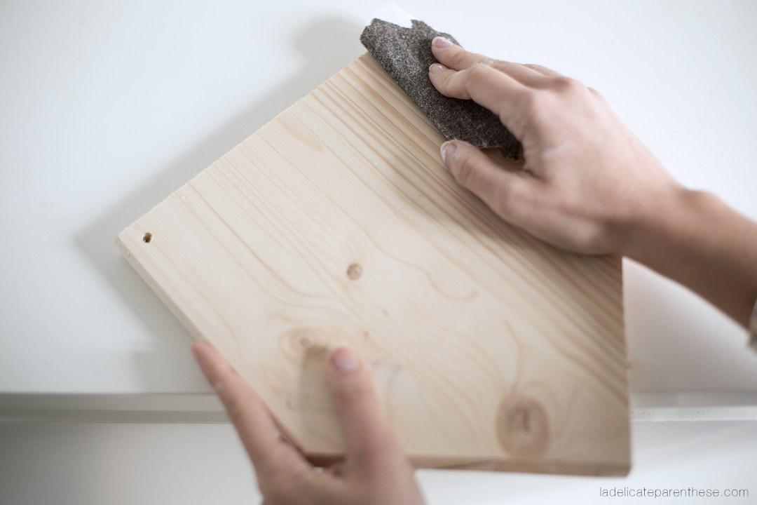 Diy réaliser un fanion en bois grace à la technique de transfert