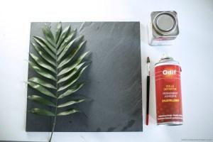 outils pour création vaisselle à empreintes végétales DIY