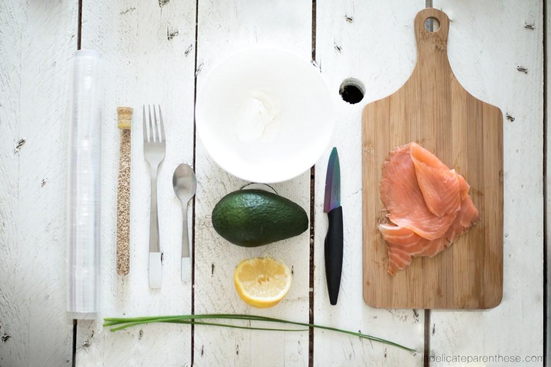 création DIY handmade recette roulé saumon labeyrie ingrédients