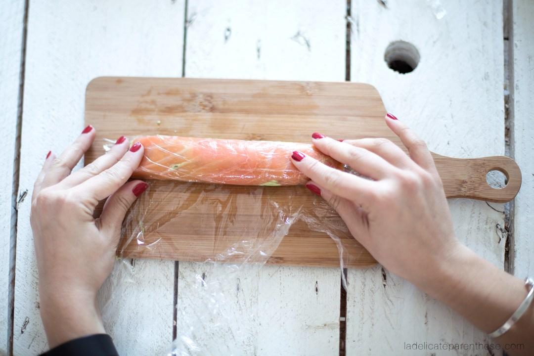 création DIY handmade recette roulé saumon labeyrie
