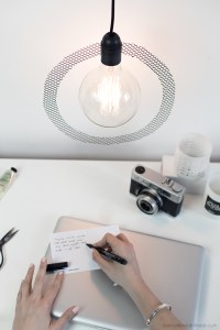 DIY light création luminaire minimaliste