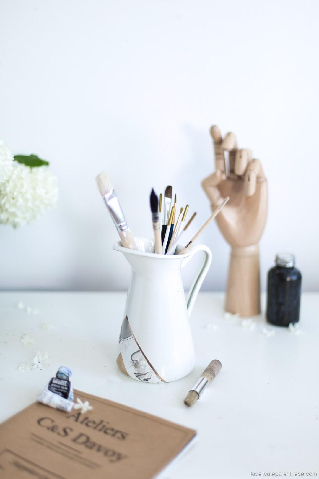 diy personnalisez des vases ikea de marbre la d licate parenth se diy d co et. Black Bedroom Furniture Sets. Home Design Ideas