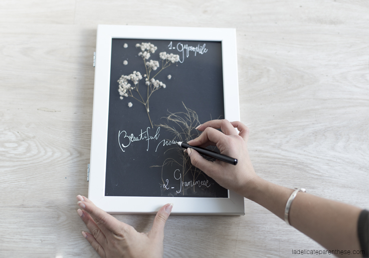 création herbier DIY ikea