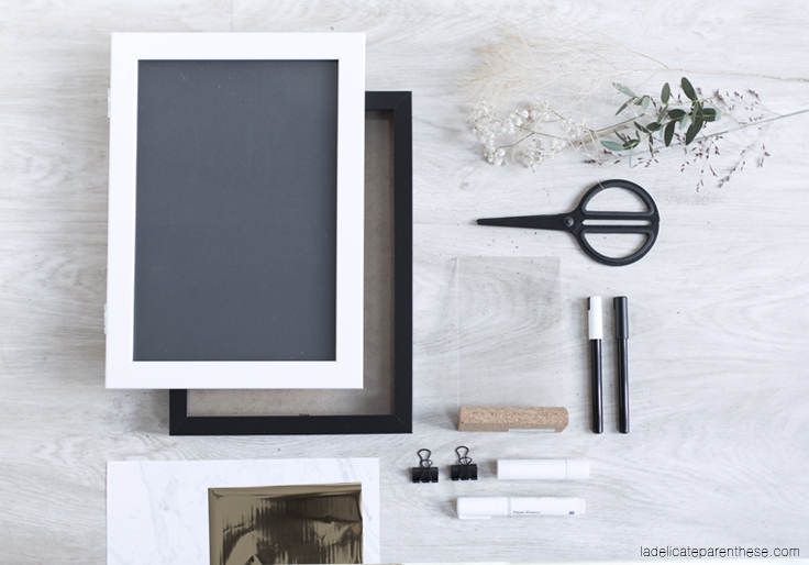 création herbier DIY ikea outils