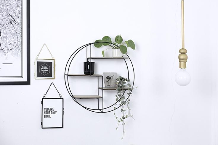 Luminaire DIY handmade dorée et minimal