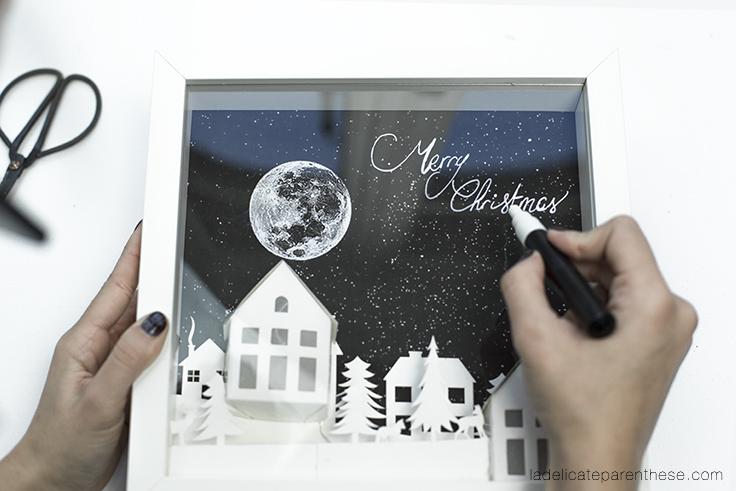Diy calendrier de l'avent et concours de noel handwritting
