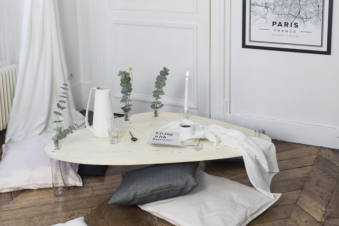 home création Diy table up'cycling et minimaliste