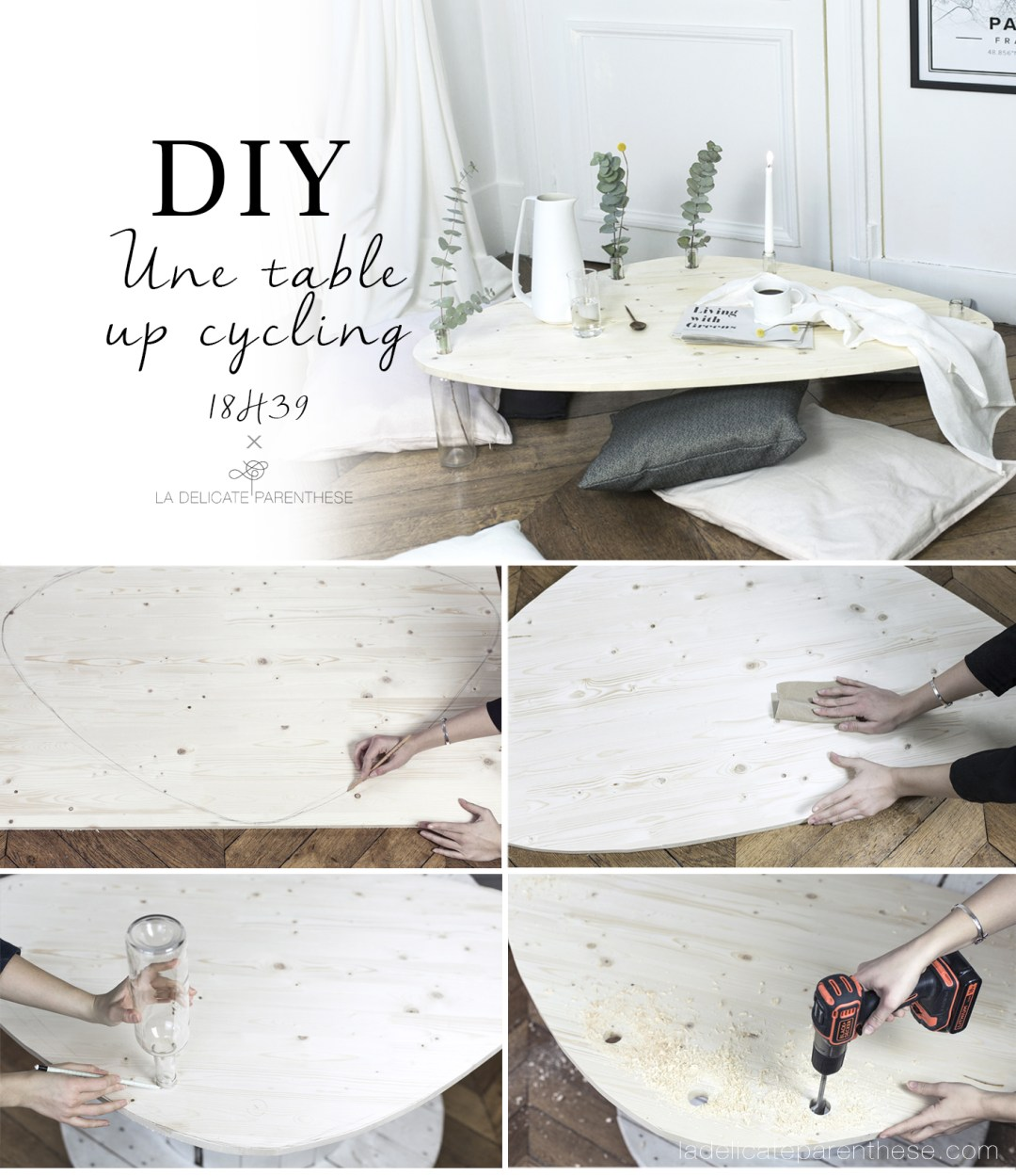 Do it yourself, création table basse épurée et up'cycling