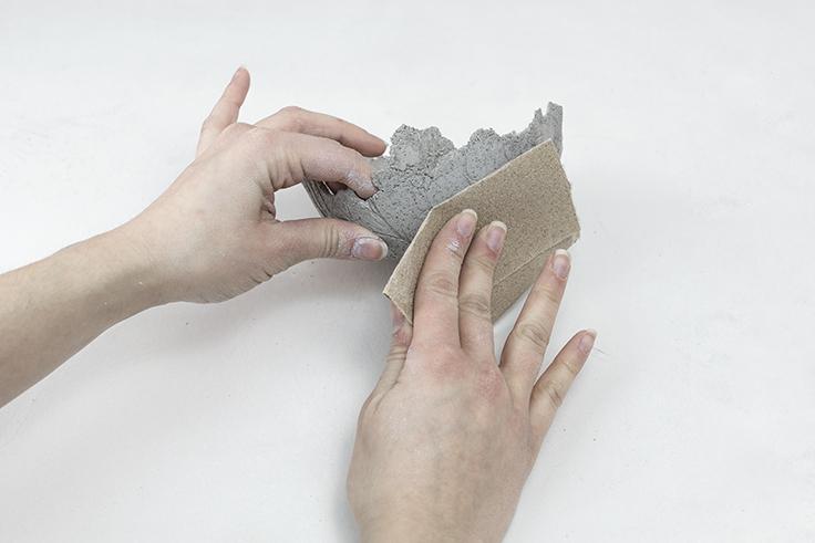 Pas à pas DIY création bol en béton table de Pâques