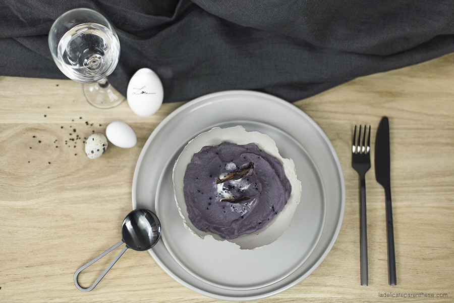 Do it yourself création bol en béton pour table de Pâques