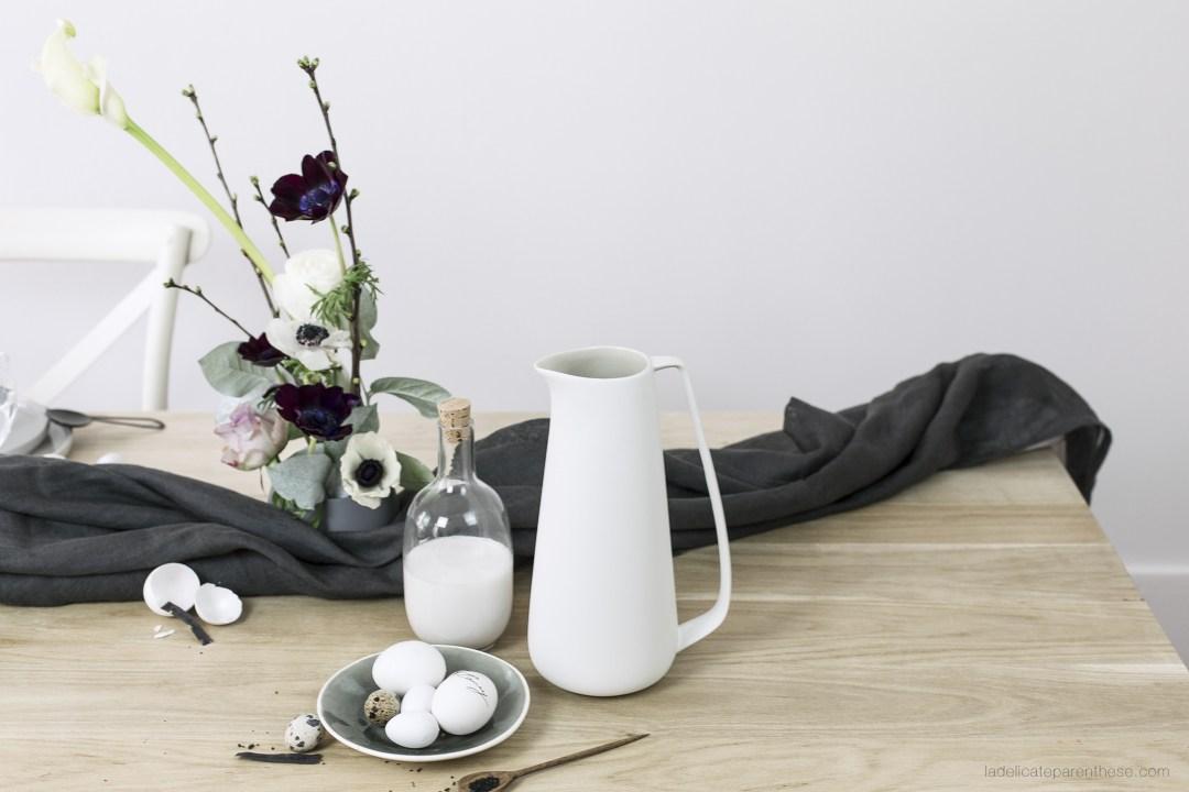 table de Pâques création DIY minimalisme