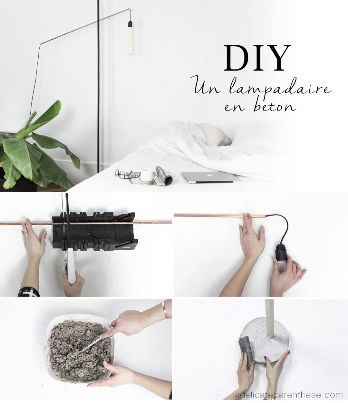 pas à pas DIY lampadaire en béton