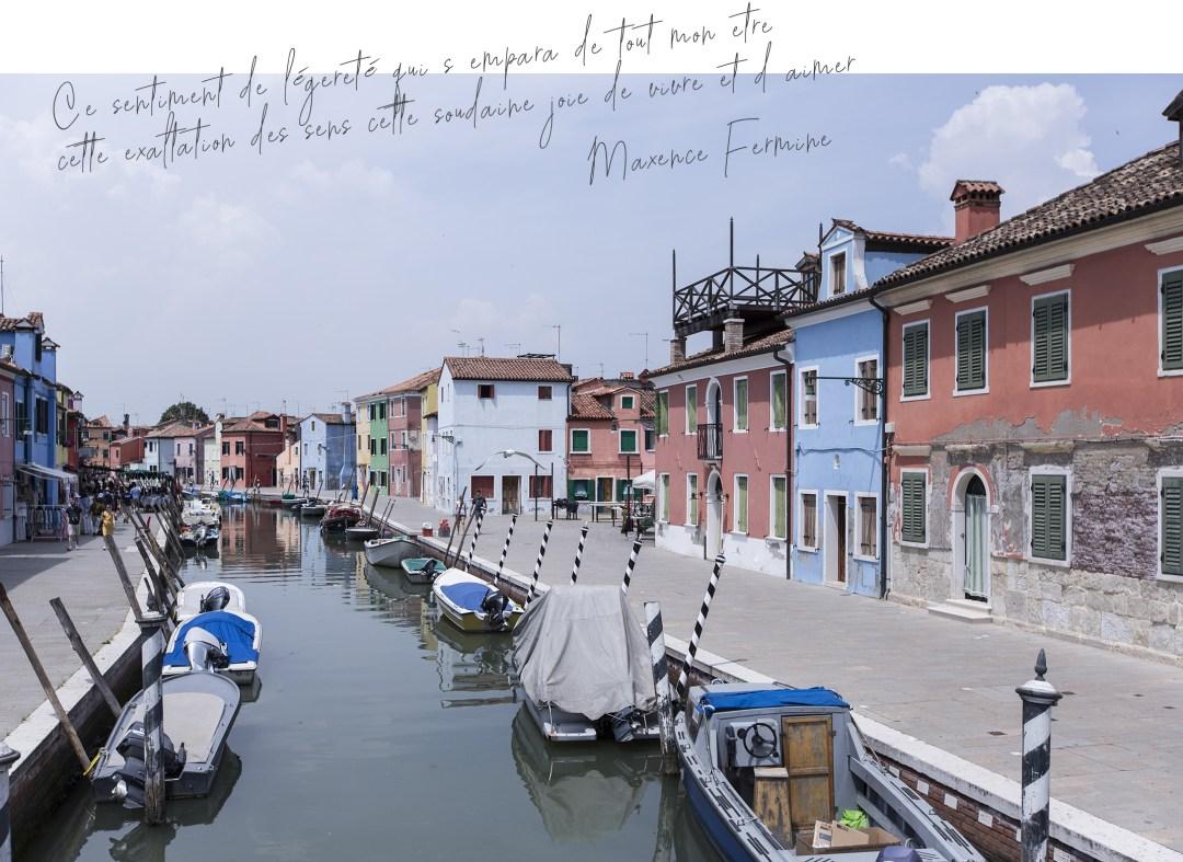 Sentiment de bien être dans la ville italienne Burano