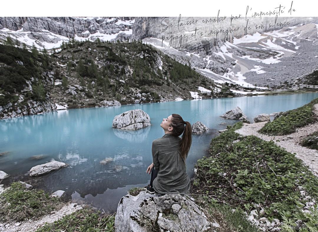 Lago di sorapis , lac du Sud tyrol, sur la route des dolomites note de voyage