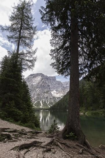 Pragser Wildsee landscape moutains