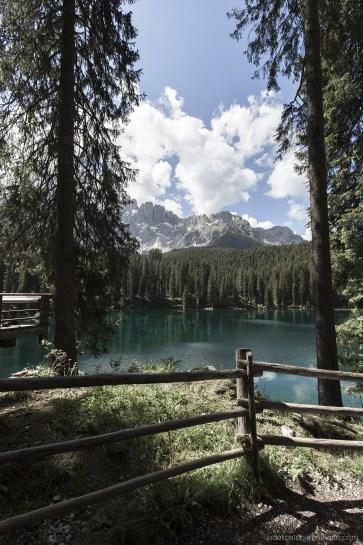 Lac de Karersee paysage Dolomites Sud Tyrol