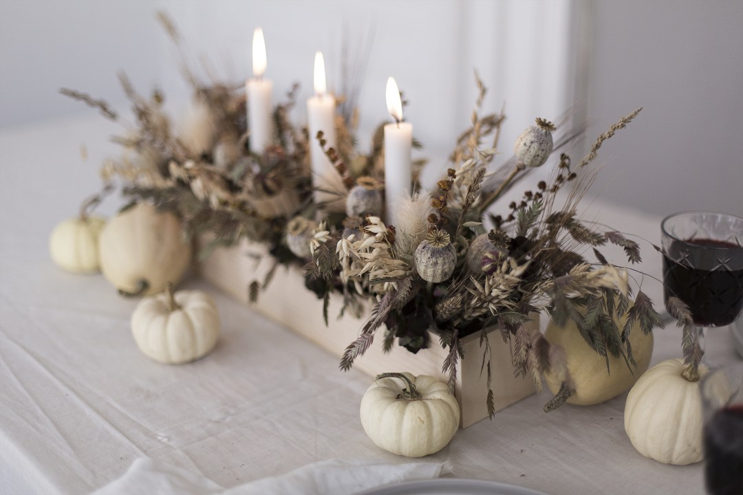 Handmade halloween centerpiece flower