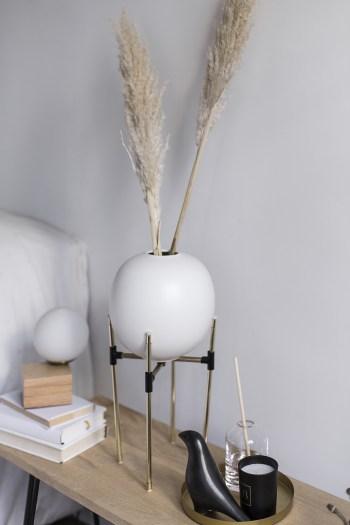 support de plante en laiton handmade