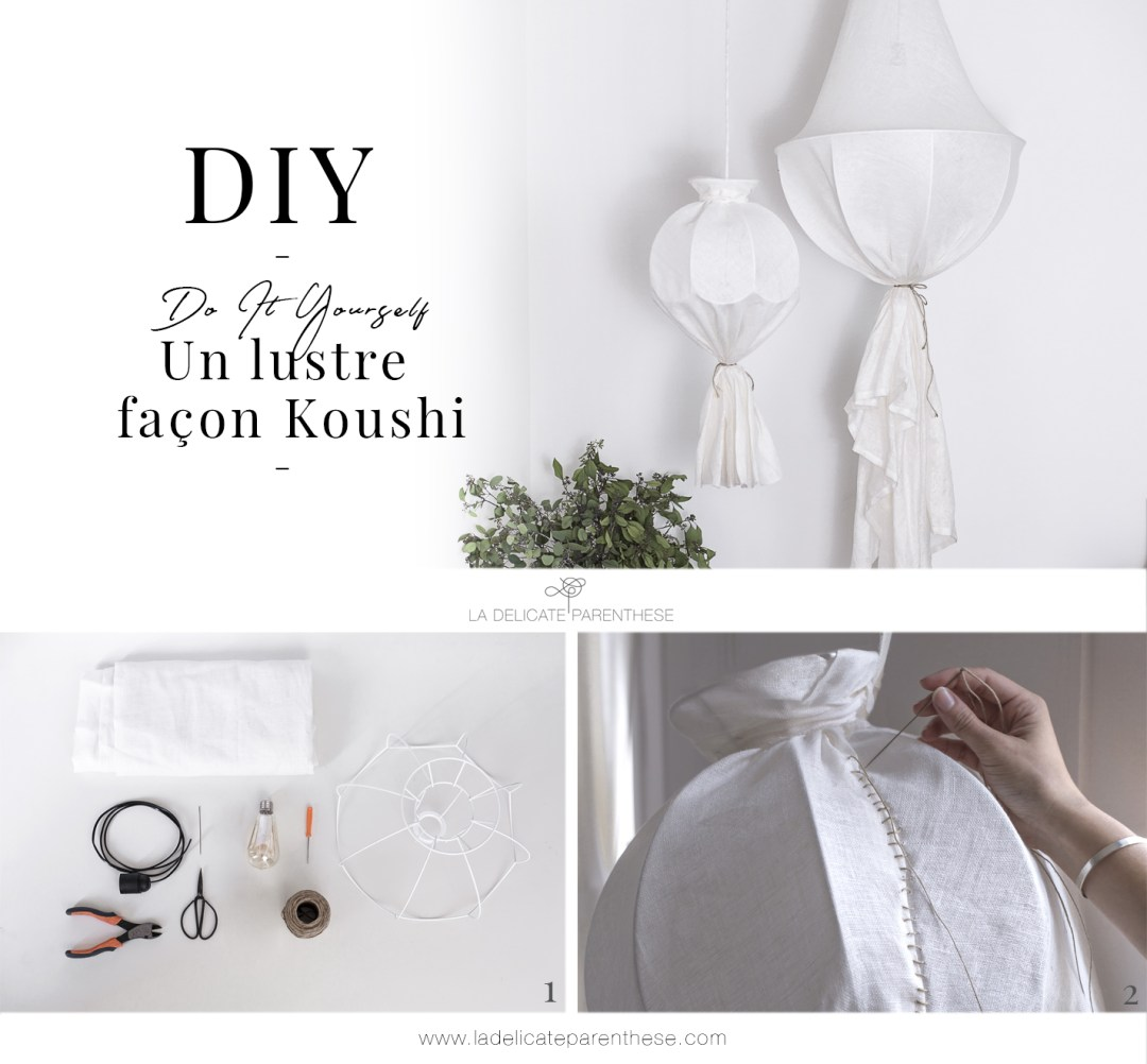 step by step kushhi linen hanging lamp