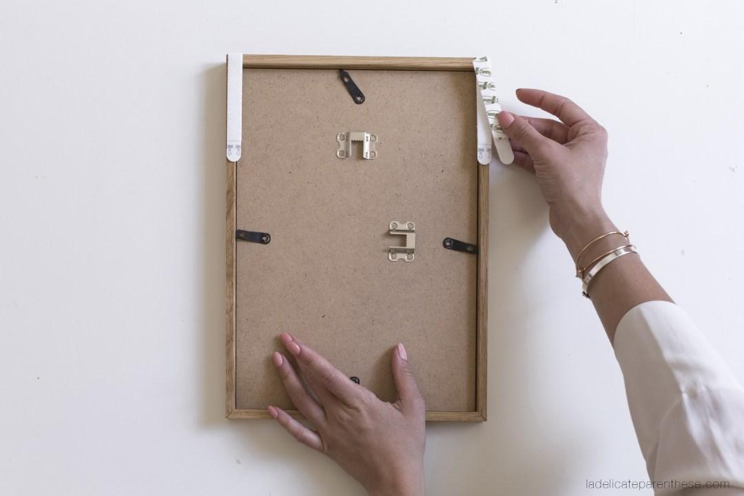 galerie de cadre, création DIY on the wall