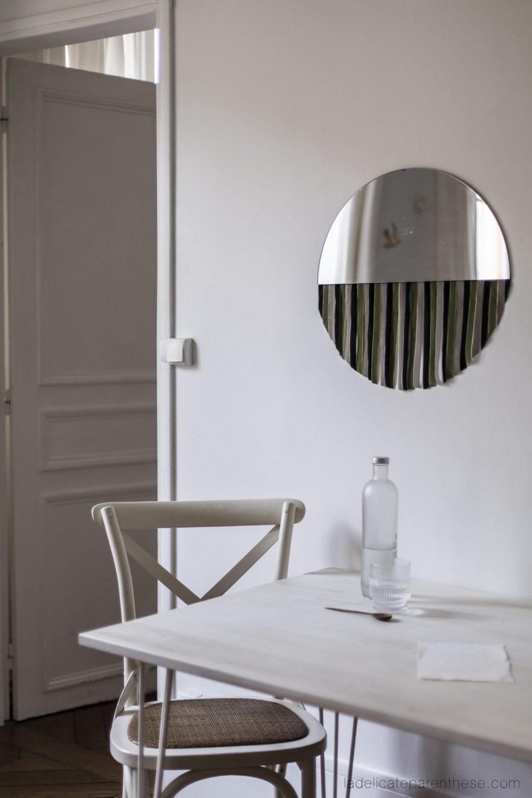 velvet half mirror création handmade sostrene grene