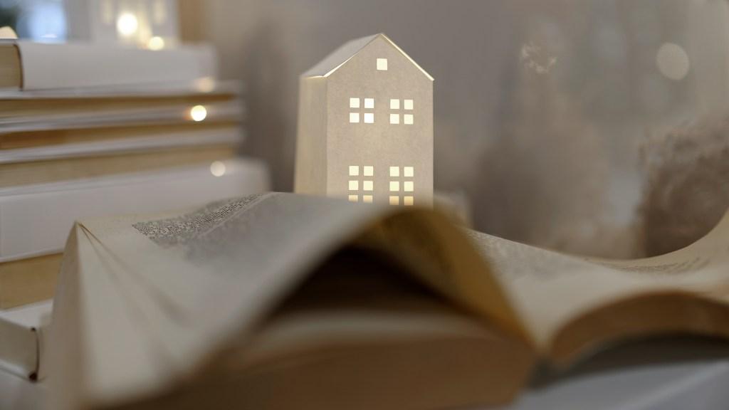 Vitrine CSF maison pliage papier cricut Noel