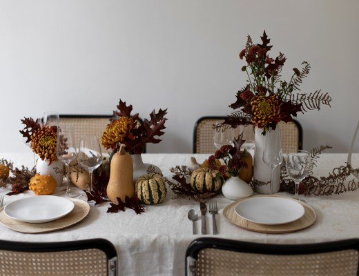 HOME une table decoration automne creation table design