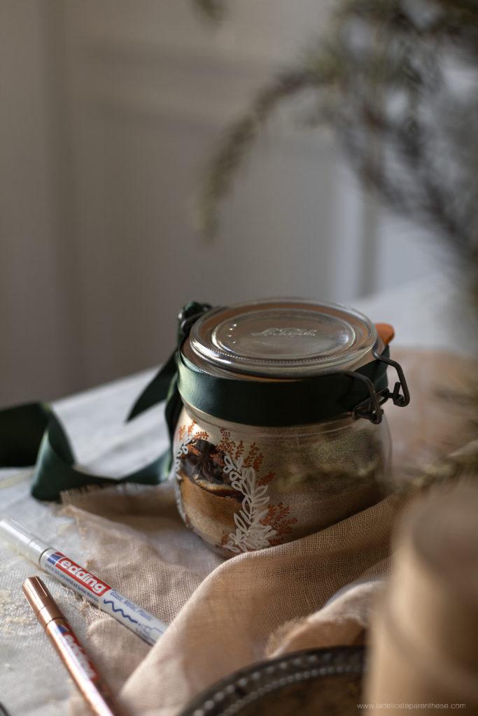 un bocal personnalisé pour noel homemade DIY edding et le parfait
