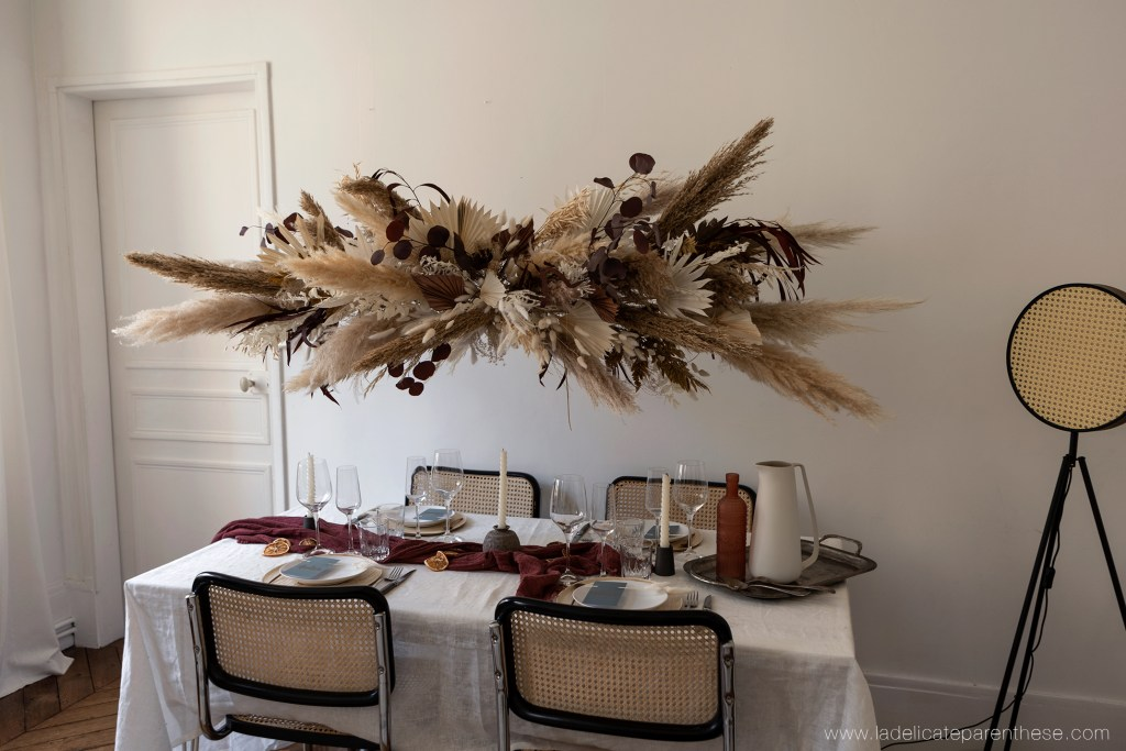 hanging flower DIY pampas grass