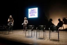 Pau Gómez i Alba Valldaura a l'escenari de l'Alegria