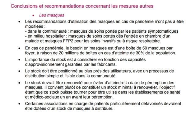 Avis d'experts stratégie pandémie grippale - Santé Publique France