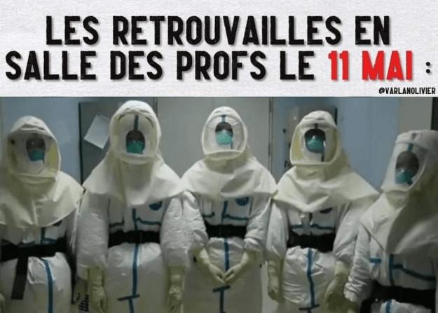200430 - Les retrouvailles en salle des profs le 11 mai by Varlan Olivier - La Déviation