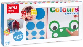 200502 - Publicité Apli Kids Colours stickers book Mon Premier Livre Gommette Couleur - La Déviation