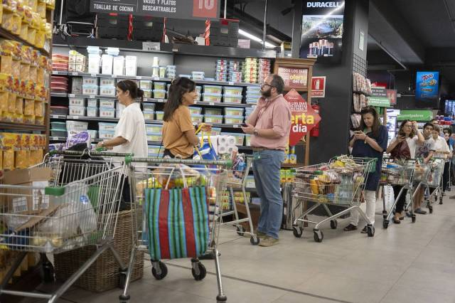 Supermercado en el barrio Punta Carretas.