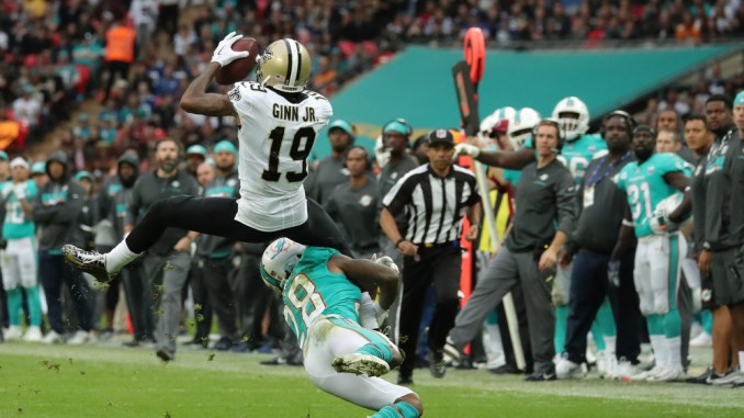 2018 NFL Fantasy Football Week 4 Wide Receiver PPR Rankings. NFL New Orleans Saints Wide Receiver Ted Ginn Jr.