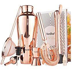 Copper Cocktail Barware Set