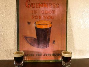 Baby Guinness Shot fall inspired made with Kahlua Salted Caramel and Baileys Pumpkin Spice