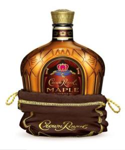 A bottle of Crown Royal Maple Whisky used to make the Breakfast in Bed Shot