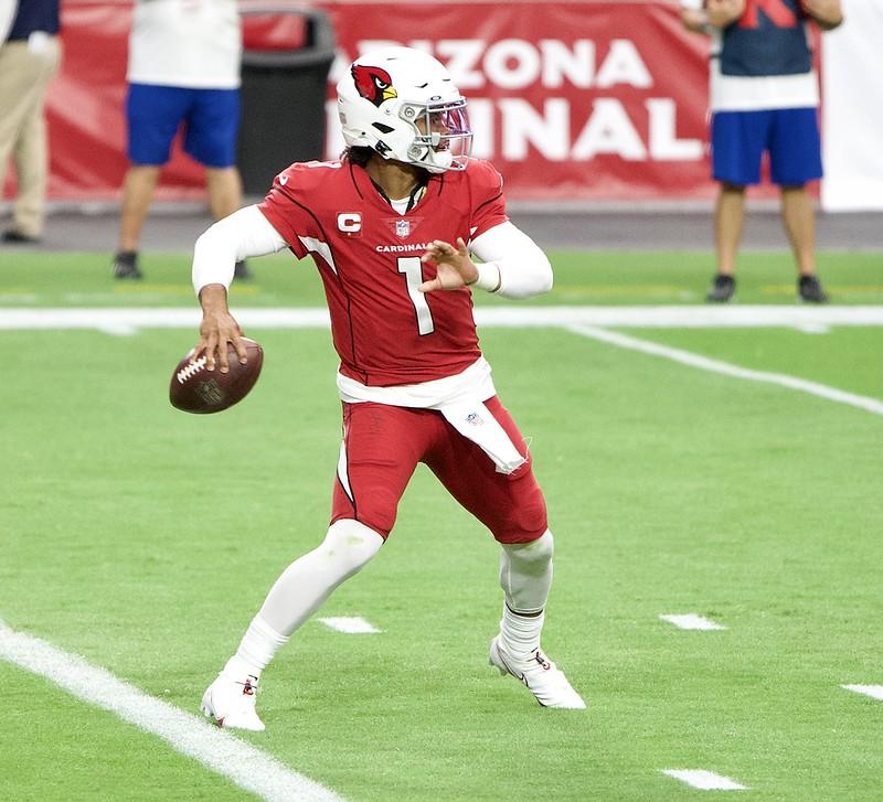 NFL Arizona Cardinals quarterback Kyler Murray getting ready to throw a pass