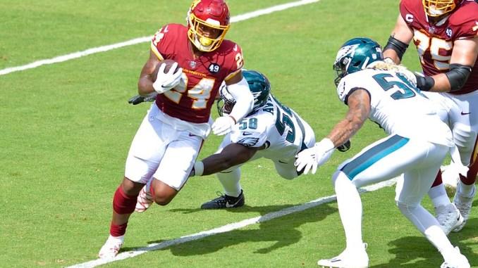 NFL Washington Football Team running back Antonio Gibson