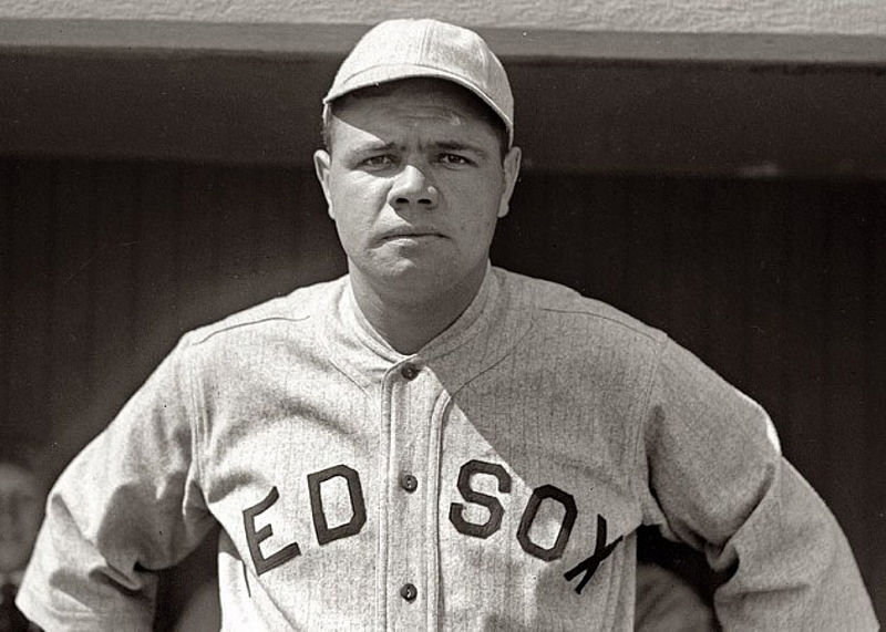 Babe Ruth when he played for the Boston Red Sox