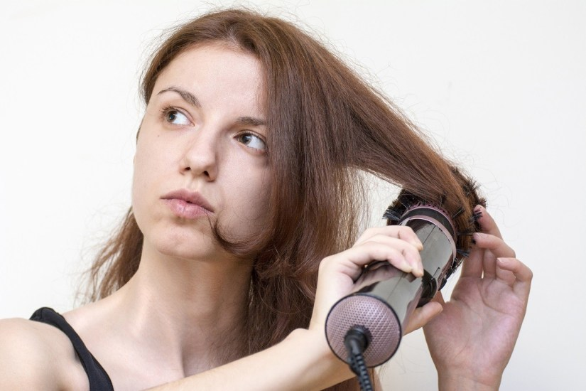How do you use hot rollers on thick hair