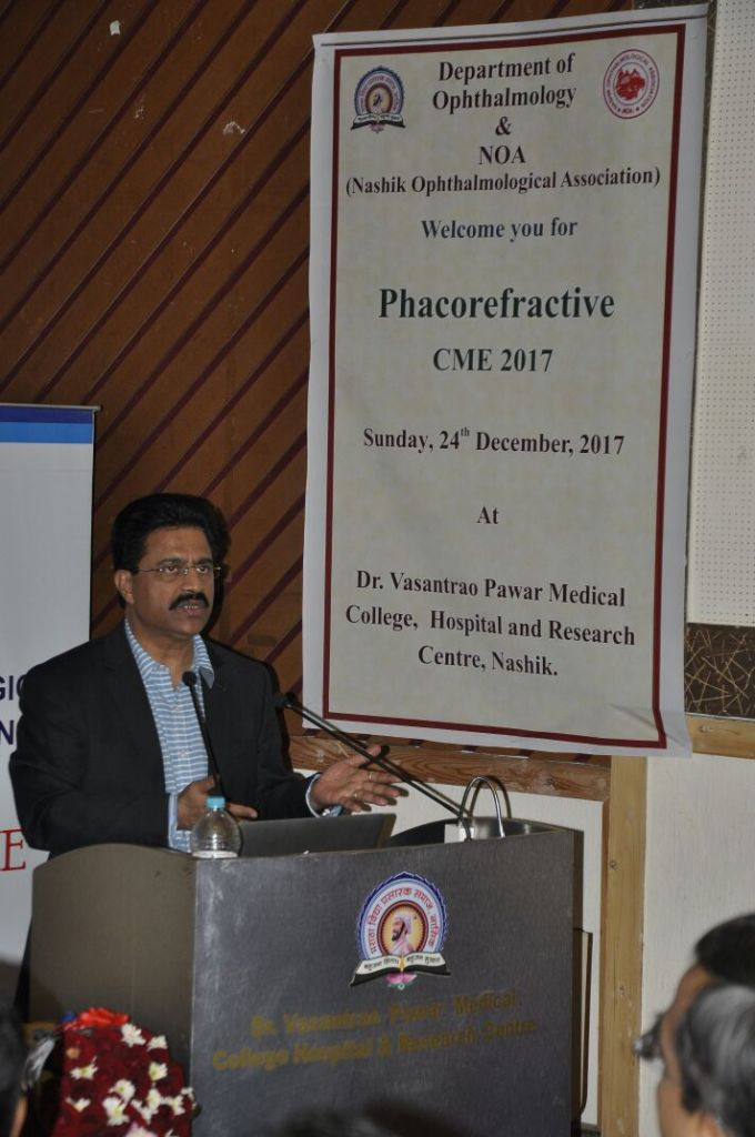 Dr Jeevan Ladi invited as faculty by Nashik Ophthalmic Society