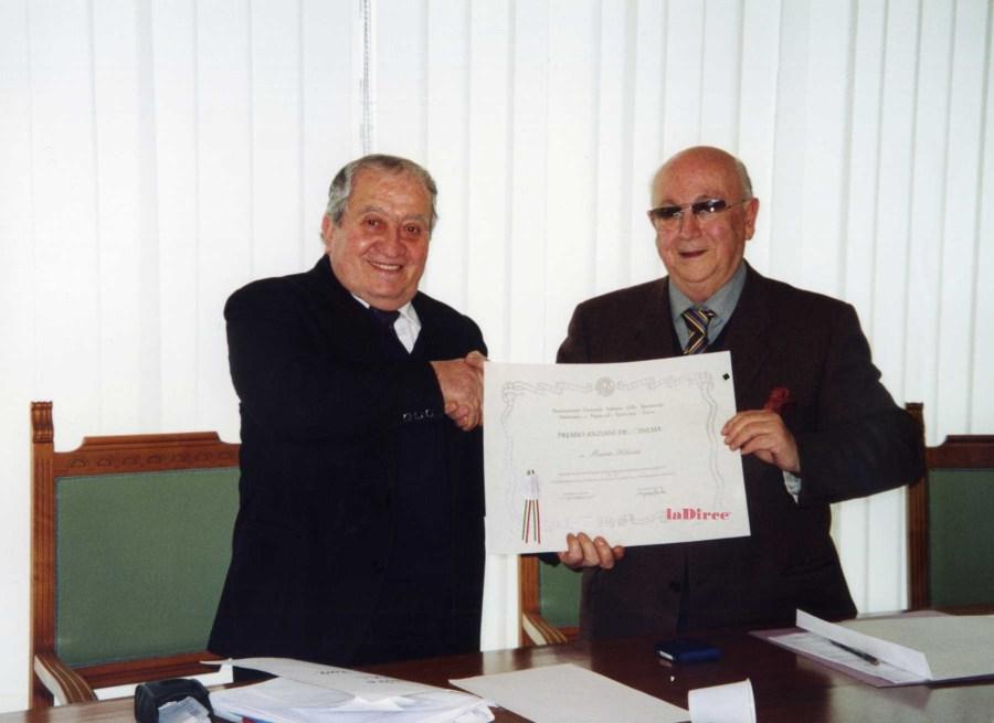 Mario Filanti riceve il premio Anziani del Cinema