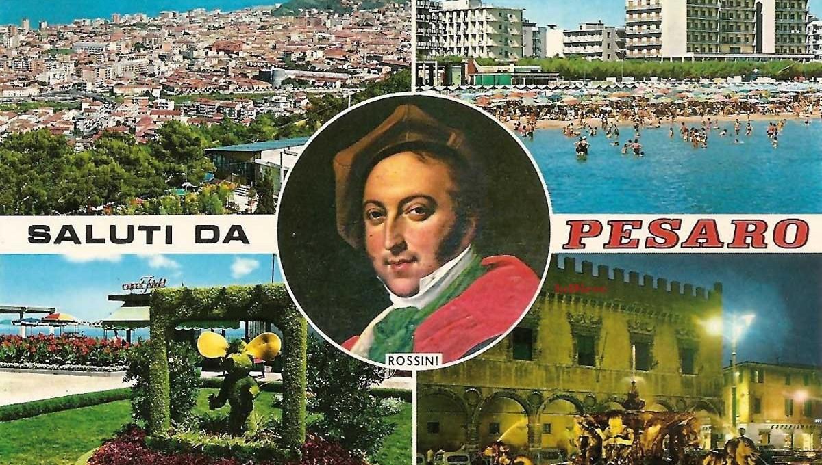 Pesaro, cartolina anni '70 (collezione privata)