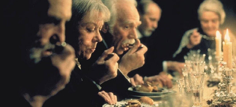Il pranzo di Babette, una scena dal film di G. Axel (1987)