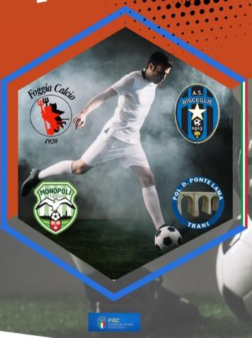 """Al quadrangolare di calcio """"Trani Perla dell'Adriatico"""" le squadre di Trani, Bisceglie, Monopoli e Foggia"""