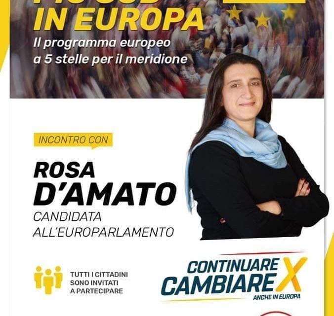 Il M5S incontra la candidata alle Europee Rosa D'Amato