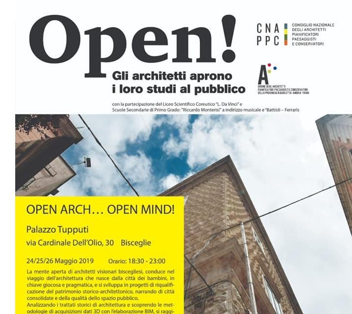 """Anche gli architetti di Bisceglie scendono in campo: al via la manifestazione """"OPEN Studi Aperti"""""""